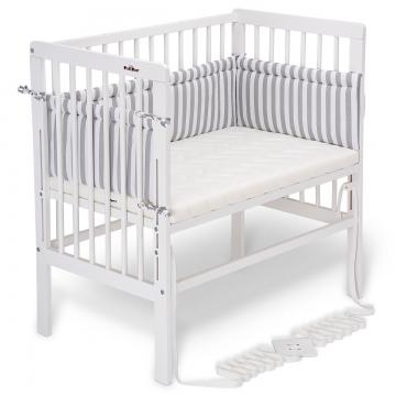 fabimax beistellbett boxspring wei angebote bewertungen. Black Bedroom Furniture Sets. Home Design Ideas