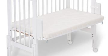 FabiMax Beistellbett pro weiß mit Matratze und Nestchen