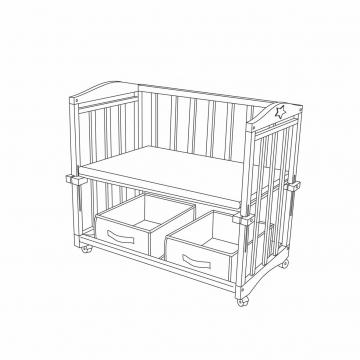 roba heartbreaker beistellbett babybett zubeh r. Black Bedroom Furniture Sets. Home Design Ideas