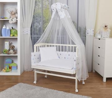 Baby Beistellbett weiß komplett mit Ausstattung