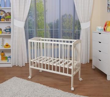 Waldin Baby Beistellbett weiß komplett mit Ausstattung