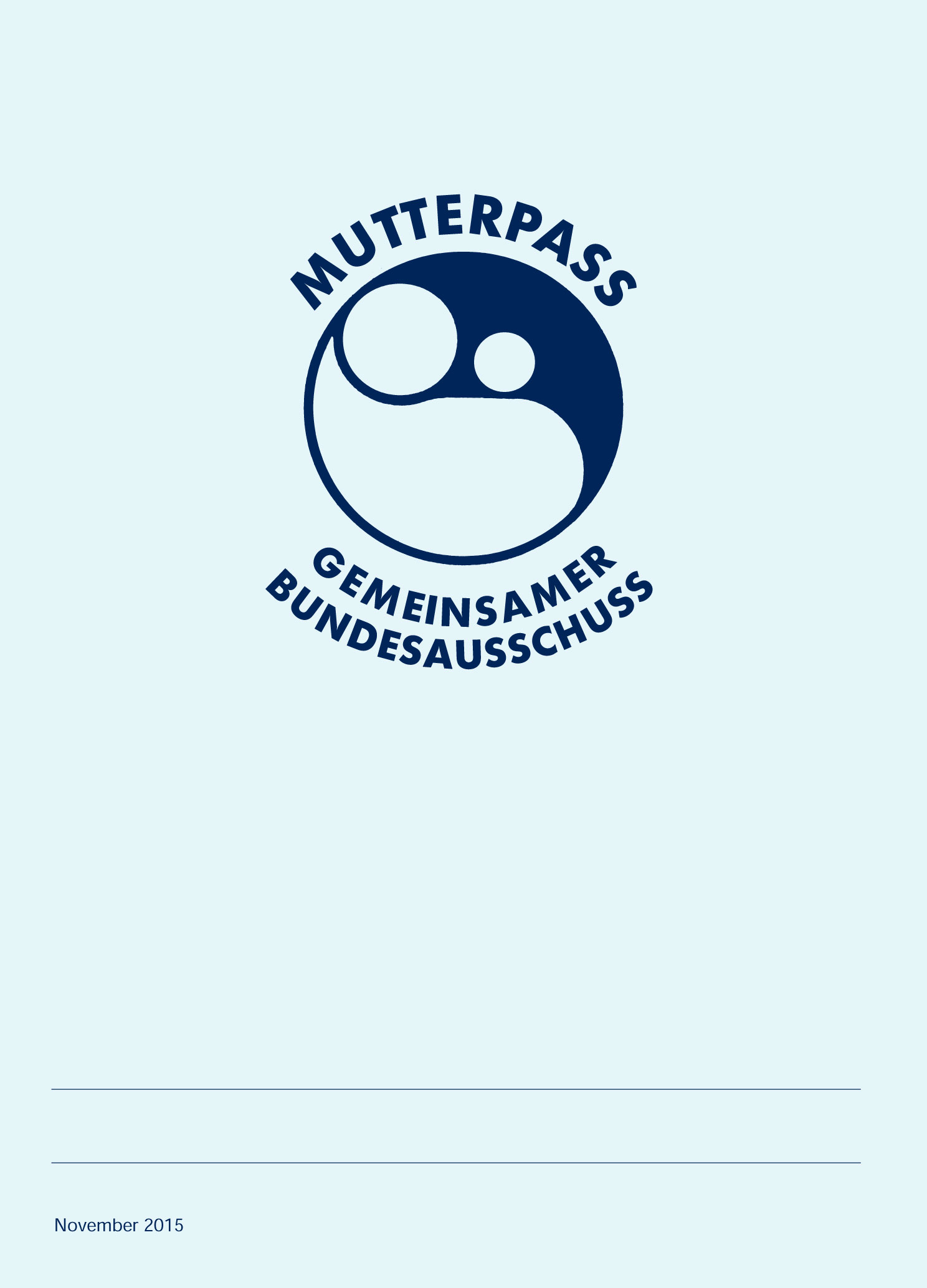 Mutterpass Deckblatt