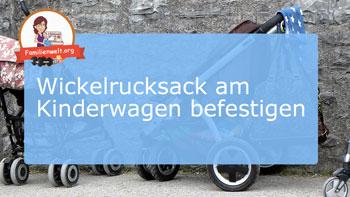wickelrucksack mit kinderwagenbefestigung